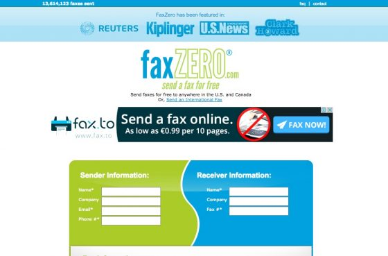 FaxZero Review 2016
